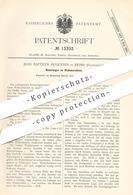 Original Patent - Jean Baptiste Huguenin , Reims , Frankreich , 1880 , Walkmaschine | Walkmaschinen | Stoff , Gewebe !!! - Historische Dokumente