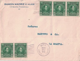 VENEZUELA - LETTRE DE CUMANA POUR LA GUAYRA LE 24 AVRIL 1922. - Venezuela