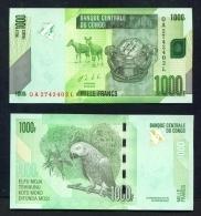 CONGO DR  -  2013  1000 Francs  UNC Banknote - Congo