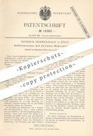 Original Patent - Heinrich Hemmersbach , Köln / Rhein , 1881 , Kaffeebrenner Mit Zylinder - Röhrentrommel | Kaffee !!! - Historische Dokumente