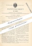 Original Patent - W. Angele , Berlin , 1880 , Auswasch-Apparat Für Kartoffelstärke | Kartoffeln , Zucker , Stärke !! - Historische Dokumente