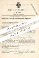 Original Patent - Wilhelm Stölzle , München , 1880 , Klosetbecken Mit Wasserspülung | Toilette , Kloset , WC | A. Seeger - Historische Dokumente