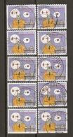 Belgique 2008 - Croix Rouge - Le Chat - Philippe Geluck - Petit Lot De 10 Timbres° De Carnet C 88 - 4 Différents - Postzegelboekjes 1953-....