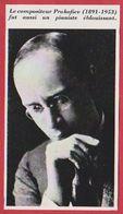Le Compositeur Prokofiev. Russie. URSS. Encyclopédie De 1970. - Autres