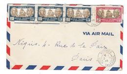 NOUVELLE CALEDONIE Enveloppe  Affranchie Nouméa Vers Paris 1946 - Océanie (Établissement De L') (1892-1958)