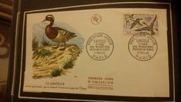 1°  Jour.d'émission..FDC ..1960 ..  étude  Des Migrations Museum  De PARIS  LA  SARCELLE - Joint Issues