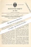 Original Patent - Peter Steffen , Haardt / Sieg , 1880 , Steuerung Für Dampfmaschinen | Dampfmaschine , Motor , Motoren - Historische Dokumente