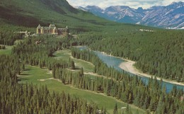 The Banff Springs Golf Course, The Banff Springs Hotel And The Massive Range, Banff National Park, Alberta - Banff