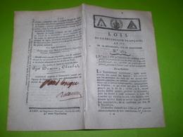 An 3: Levée Sequestre Sur Effets Compagnie Nouvelle Des Indes.Armée Des Pyrénées.Tontin Ntle.Hymne Des Marseillais - Decrees & Laws