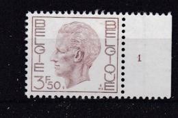Belgie Plaatnummer COB** 1581.1587.1 - Numéros De Planches