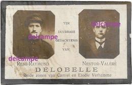 OORLOG GUERRE Delobelle Tiegem Heestert Soldaat Gesneuveld Te Westrozebeke September 1918 - Images Religieuses