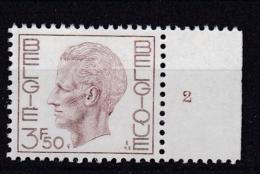 Belgie Plaatnummer COB** 1581.1587.2 - Numéros De Planches