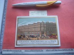 1 Litho Printed FOLDER Double Card 11,5c X 8,5cm  C1875,  Printer BOGNARD, PUB Grands Magasins De La Paix Excelle - Confectionery & Biscuits