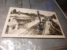CPA ANIMEE - LA GARE DU PECQ - TRAIN - LE VESINET - Gares - Avec Trains