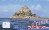 Télécarte Japonaise FRANCE Related (9) MONT-SAINT-MICHEL - Paysages