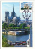 Carte Maximum PARIS Cathédrale NOTRE DAME - LA SEINE - Cartoline Maximum