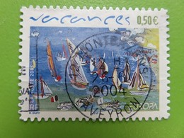 Timbre France YT 3672 AA (42) - Les Vacances - 2004 - Cachet Rond Montbazens (Aveyron) - Adhesive Stamps