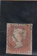 GRANDE BRETAGNE  N° 3 -- 1 Brun Sur Azuré Côte 30€ - 1840-1901 (Victoria)