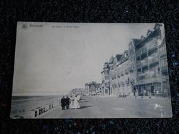 Westende, La Digue : Le Grand Hôtel, Vue Rare, 1908, Timbre  (Y6) - Westende