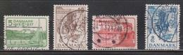 DENMARK Scott # 258-61 Used - 1913-47 (Christian X)