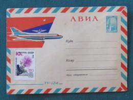 Russia (USSR) 1963 Stationery Cover - Kremlin - Plane - Flower - 1923-1991 USSR