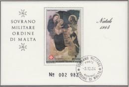 MALTESERORDEN, Block, Gestempelt, Weihnachten, 1984 - Malta (Orden Von)