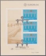 AZOREN Block 5, Gestempelt, Europa: 25 Jahre CEPT, 1984 - Europa-CEPT