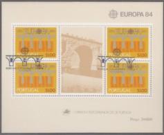 PORTUGAL Block 43, Gestempelt, Europa: 25 Jahre CEPT, 1984 - Europa-CEPT