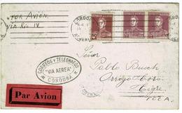 AVIATION CORDOBA, RIO CUARTO 16 OCTOBRE 1925 ARGENTINA - Storia Postale