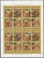 GRIECHENLAND 1571-1574, Zusammendruckbogen, Gestempelt, Weihnachten, 1984 - Blocs-feuillets
