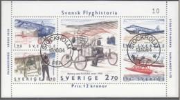 SCHWEDEN, Block 12, Gestempelt, Geschichte Der Schwedischen Luftfahrt 1984 - Blocs-feuillets