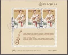MADEIRA, Block 6, Gestempelt, Europäisches Jahr Der Musik 1985 - 1985