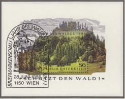 ÖSTERREICH, Block 7, Gestempelt,  Jahr Des Waldes 1985 - Blocks & Kleinbögen