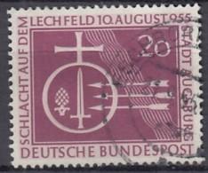 BRD 216, Gestempelt, 1000 Jahre Schlacht Auf Dem Lechfeld 1955 - [7] République Fédérale