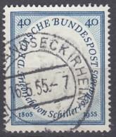 BRD 210, Gestempelt, Friedrich Von Schiller 1955 - [7] République Fédérale
