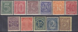 DR Dienst 23-33, Postfrisch **, 1920 - Dienstzegels