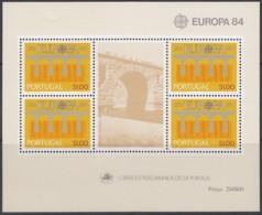 PORTUGAL Block 43, Postfrisch **, 25 Jahre Europa CEPT 1984 - Europa-CEPT