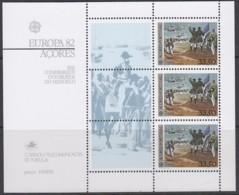 AZOREN Block 3, Postfrisch **, Europa CEPT:  Historische Ereignisse 1982 - Europa-CEPT