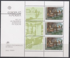 MADEIRA Block 3, Postfrisch **, Europa CEPT:  Historische Ereignisse 1982 - Europa-CEPT