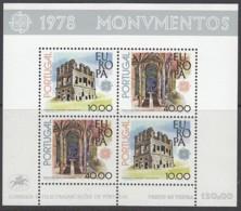 PORTUGAL Block 23, Postfrisch **, Europa CEPT:  Baudenkmäler 1978 - Europa-CEPT