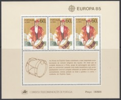 AZOREN Block 6, Postfrisch **, Europa CEPT:  Musik 1985 - 1985
