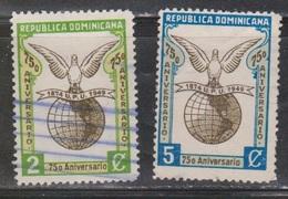 DOMINICAN REPUBLIC Scott # 434-5 Used - Dominican Republic