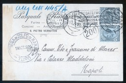 SAN PIETRO VERNOTICO - BRINDISI - 1923 - CARTOLINA COMMERCIALE - RASCAZZO (1) - Negozi