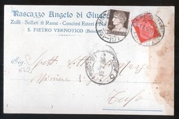 SAN PIETRO VERNOTICO - BRINDISI - 1931 - CARTOLINA COMMERCIALE - RASCAZZO (2) - Negozi