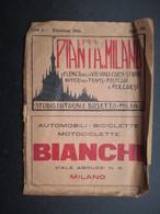VP ITALIE (M1699) PLANTA DI MILANO (7 Vues) Edizione 1925 Elenca Delle Vie - Viali - Carsi - Numeri Dei Tram - Pasteggi - Cartes