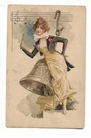 Belle  Femme Avec  Grande  Cloche - Illustrators & Photographers