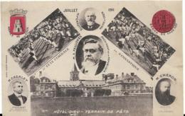 D14 - CAEN - HÔTEL DIEU - TERRAIN DE FÊTE - JUILLET 1911-FÊTE FEDERALE DE GYMNASTIQUE-Portraits-Armes Et Sceau De  Caen - Caen