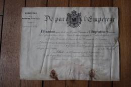 Diplome Maison De L'Empereur N°32 Filleul De L'EMPEREUR - Documentos Históricos