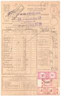 LYON RECOUVREMENT Type 18 Et 04 Sur Même Bordereau Valeur Recouvrée 1485 Taxe 56 58  Formule Entiere Ob 1931 Tf 2 F - Segnatasse