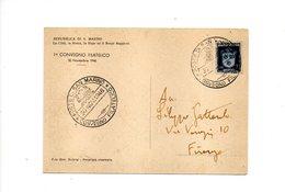LAB552 - SAN MARINO 1946, 1° Convegno Filatelico - Esposizioni Filateliche